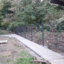 Wegebau+Zaun
